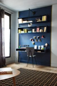 Espace bureau dans le salon de votre logement