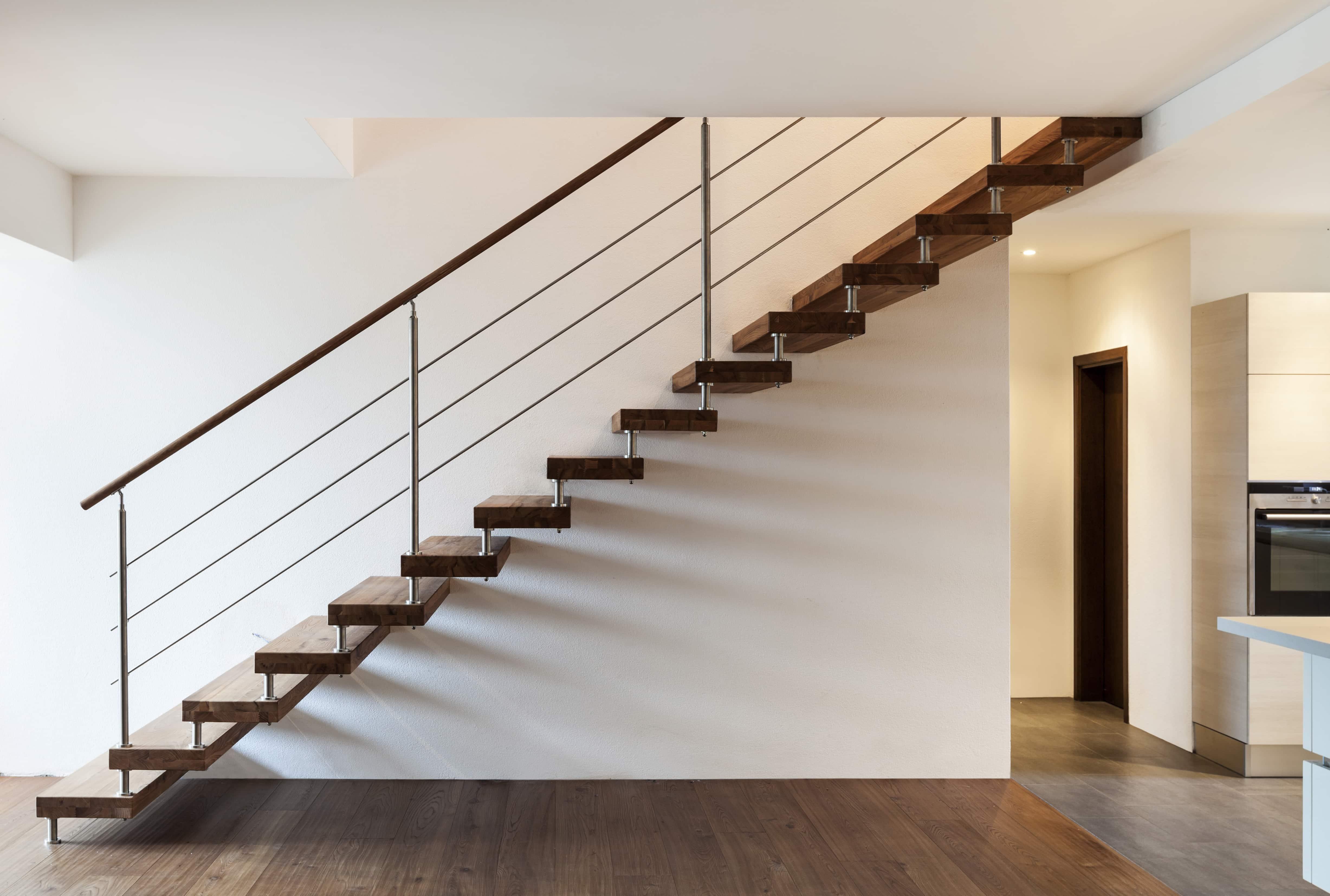 Escalier Marches Suspendues Mur buldi - maison neuve : comment bien choisir son escalier ?