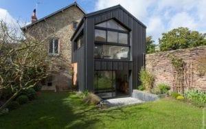 Revêtement mur extérieur maison - zinc
