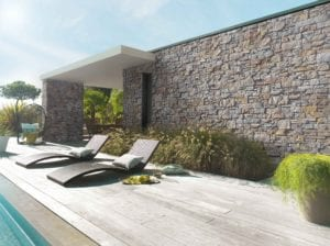 Revêtement mur extérieur maison - parement pierres